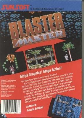 Blaster Master (back)